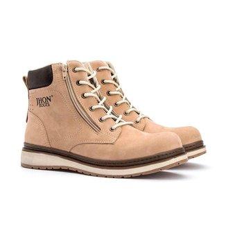 Bota Coturno Masculino Sapato Casual Jhon Boots Areia - 1800ar