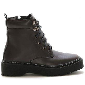 Bota Coturno Plataforma Cano Baixo EC Shoes Feminina