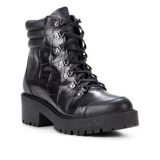 Bota Coturno Shoestock Croco Tratorada Feminina
