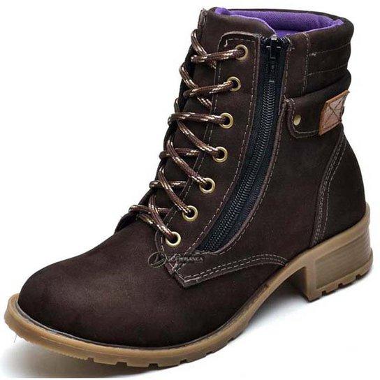 Bota Coturno Top Franca Shoes Feminino - Cafe