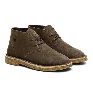 Bota Coturno Unissex Desert Boot Camurça Casual Black Boots