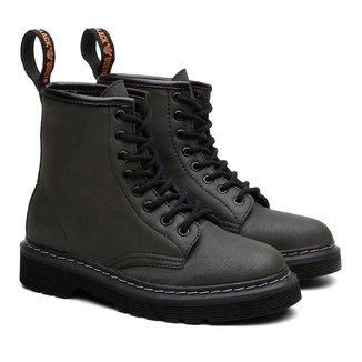 Bota Coturno Viena Unissex Vegano Cano Alto Black Boots