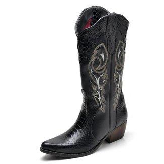 Bota Country Top Franca Shoes Anaconda Feminina