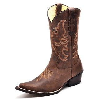 Bota Country Top Franca Shoes Bico Fino Feminina