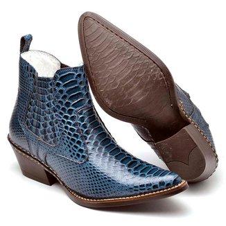 Bota Country Top Franca Shoes Bico Fino Masculina