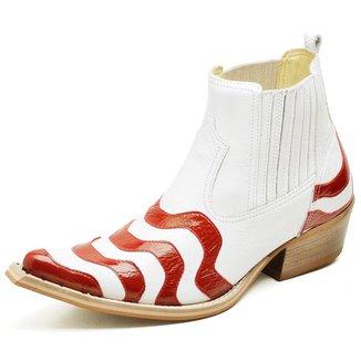 Bota Country Top Franca Shoes Bico Fino Verniz Masculino