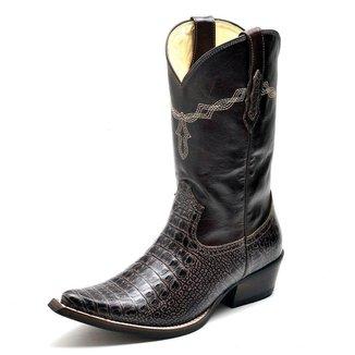 Bota Country Top Franca Shoes Jacaré Masculino