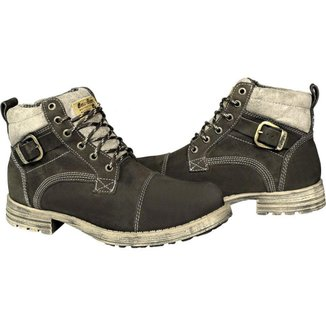 Bota Couro Bell Boots Coturno Masculina