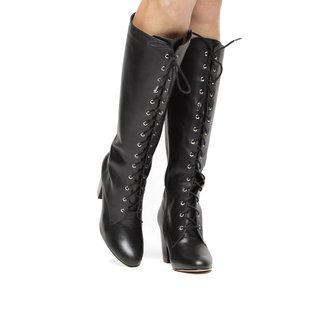 Bota Couro Cano Alto Shoestock Amarração