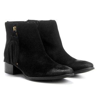 Bota Couro Cano Curto Shoestock Barbicacho Feminino