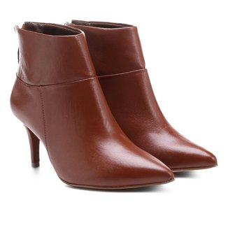 Bota Couro Cano Curto Shoestock Bico Fino