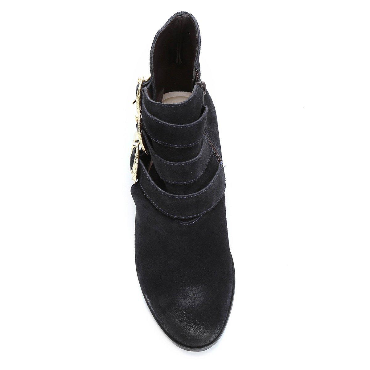 Curto Bota Couro Bota Fivelas Shoestock Cano Marinho Couro nHvTa6qc