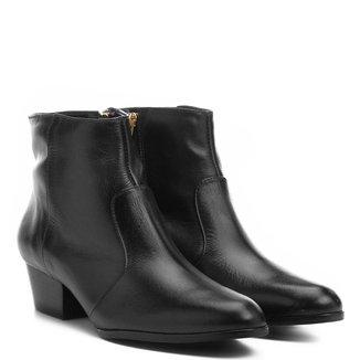 Bota Couro Cano Curto Shoestock