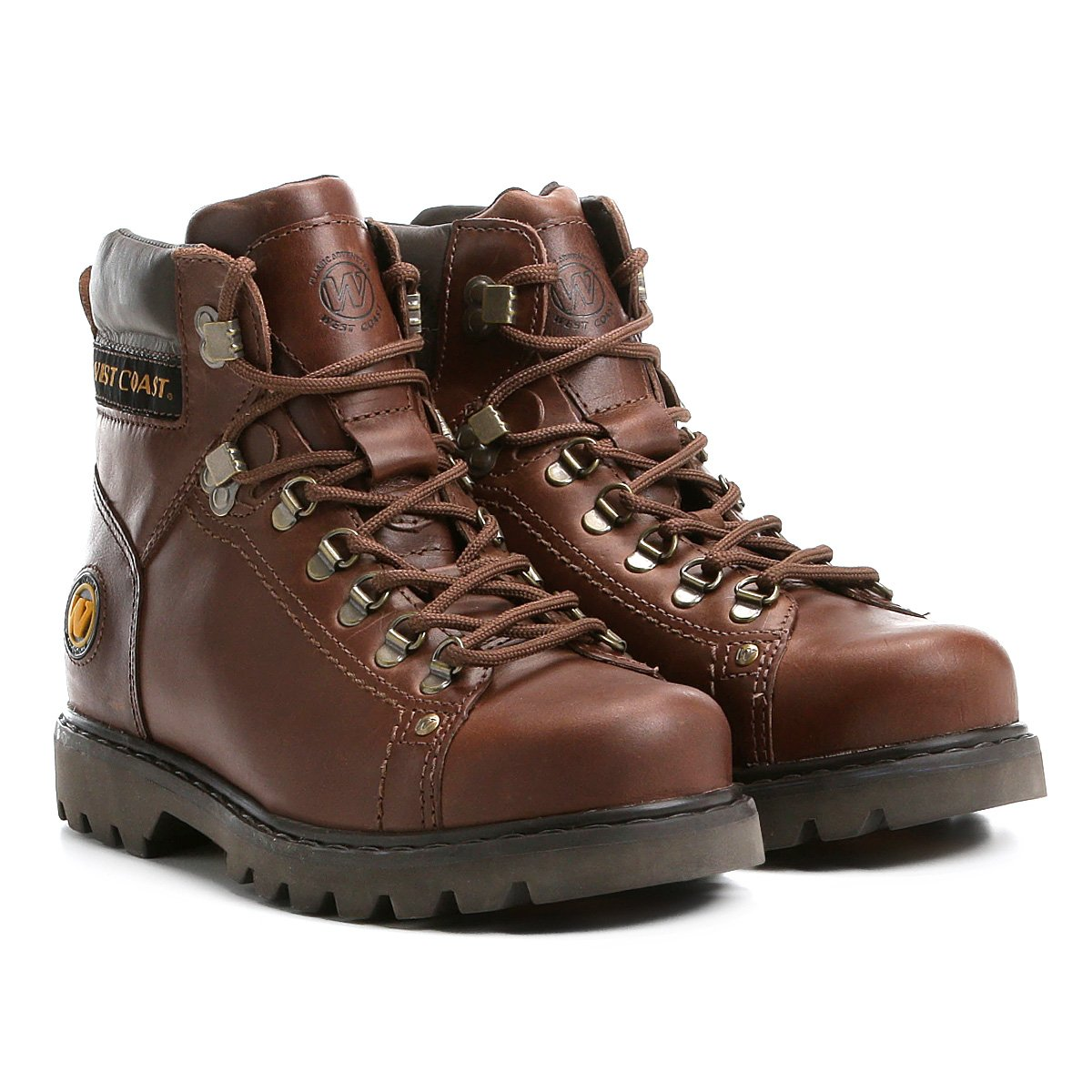 21a450629 Bota couro coturno cano curto west coast worker masculina café jpg 544x544 West  coast worker