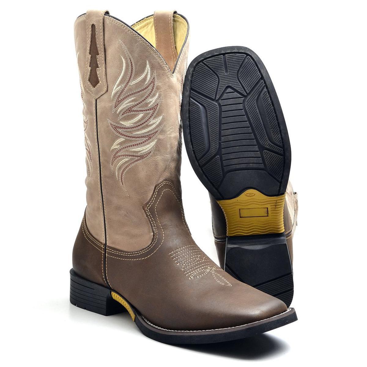 Bota Couro Country Texana Top Franca Shoes Masculino - Compre Agora ... 16ba9a2090a