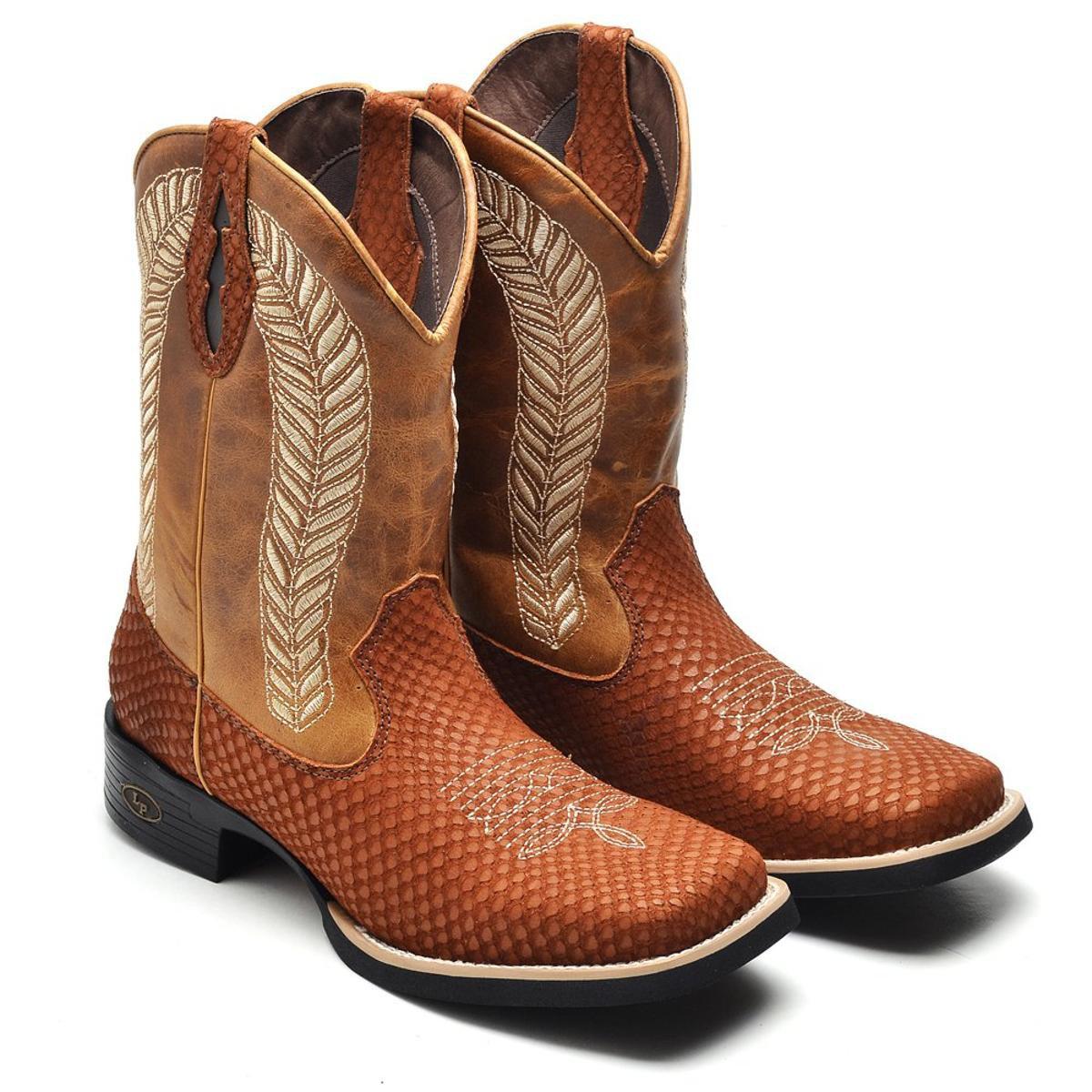 Bota Couro Country Top Franca Shoes Masculino - Marrom - Compre ...  a83a0e5e5dc7b5 ... 72a15e0648c