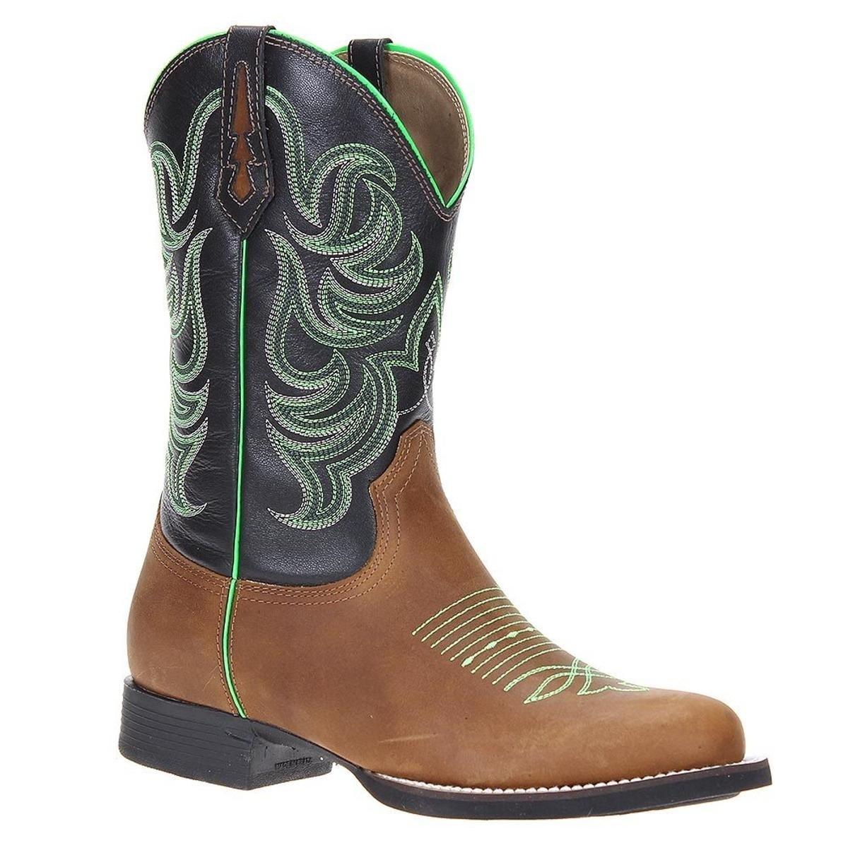 Bota Couro Country West Country Masculino - Marrom - Compre Agora ... da60545f243
