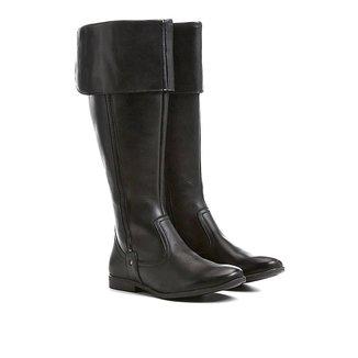 Bota Couro Montaria Shoestock Dobrável Feminina