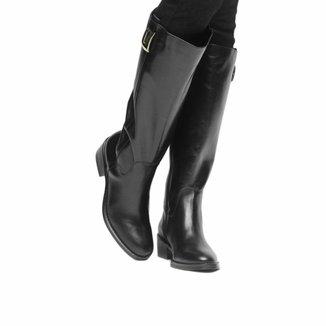 Bota Couro Montaria Shoestock Metal Feminina