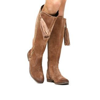 Bota Couro Over the Knee Shoestock Barbicacho Feminino