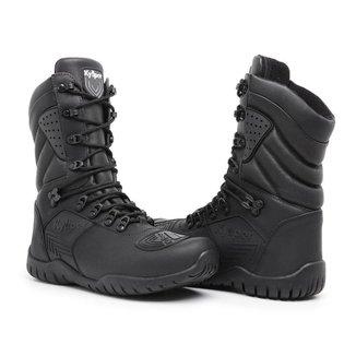 Bota Couro Rvs Shoes Coturno Motociclista Militar Masculina