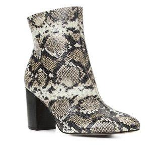 Bota Couro Shoestock Cobra Cano Curto Feminina