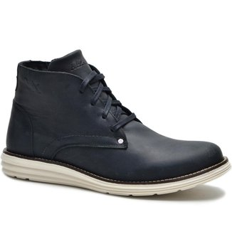 Bota Couro Tchwm Shoes Cano Medio Social Masculina