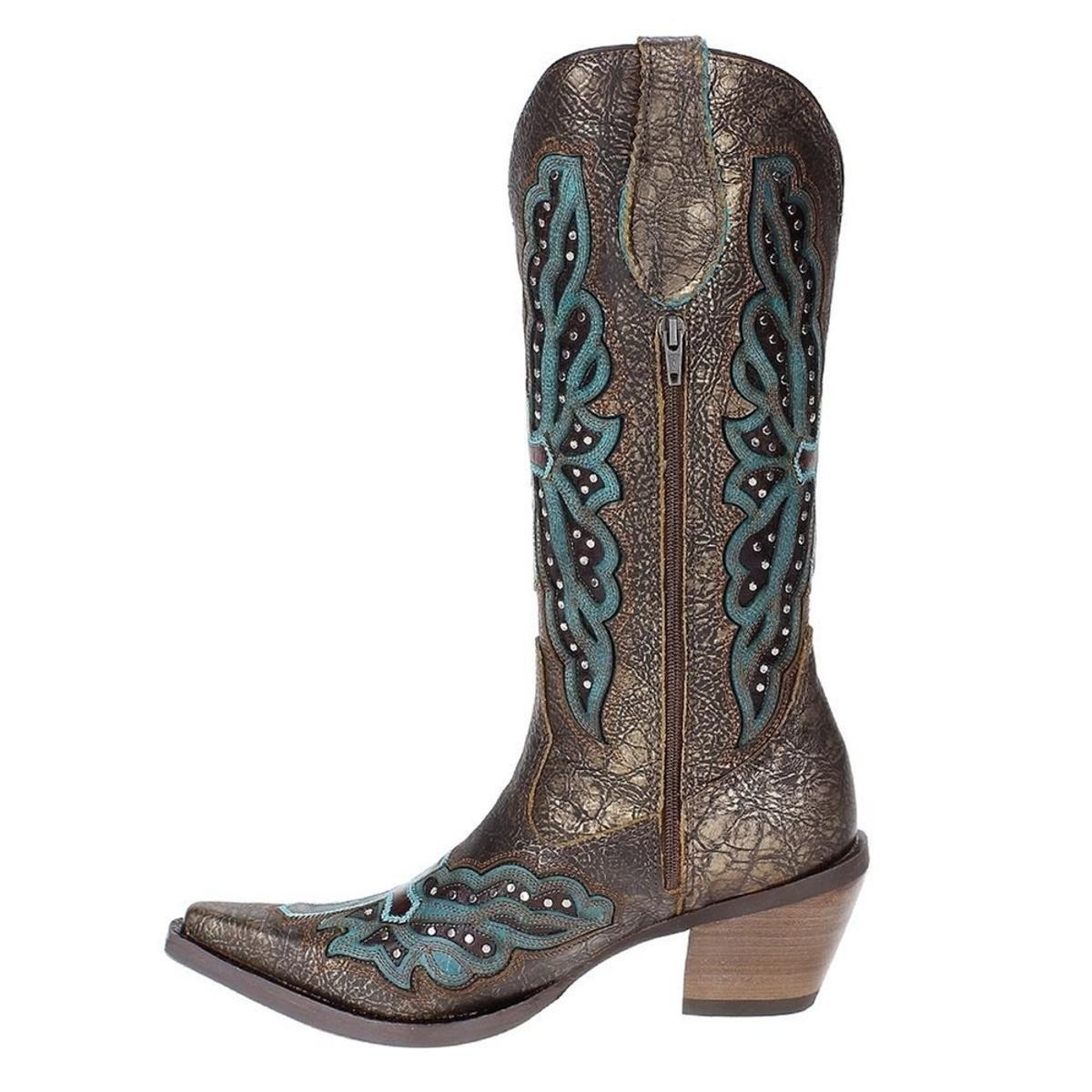 Bota Couro Texana Cano Longo Feminina - Compre Agora  25509279367