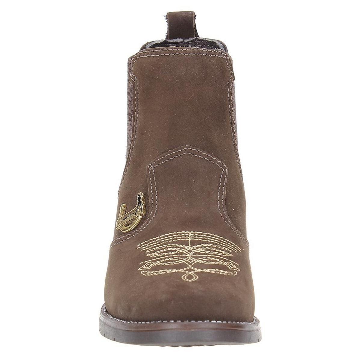 Bota Couro Urbana Boots Feminina - Marrom