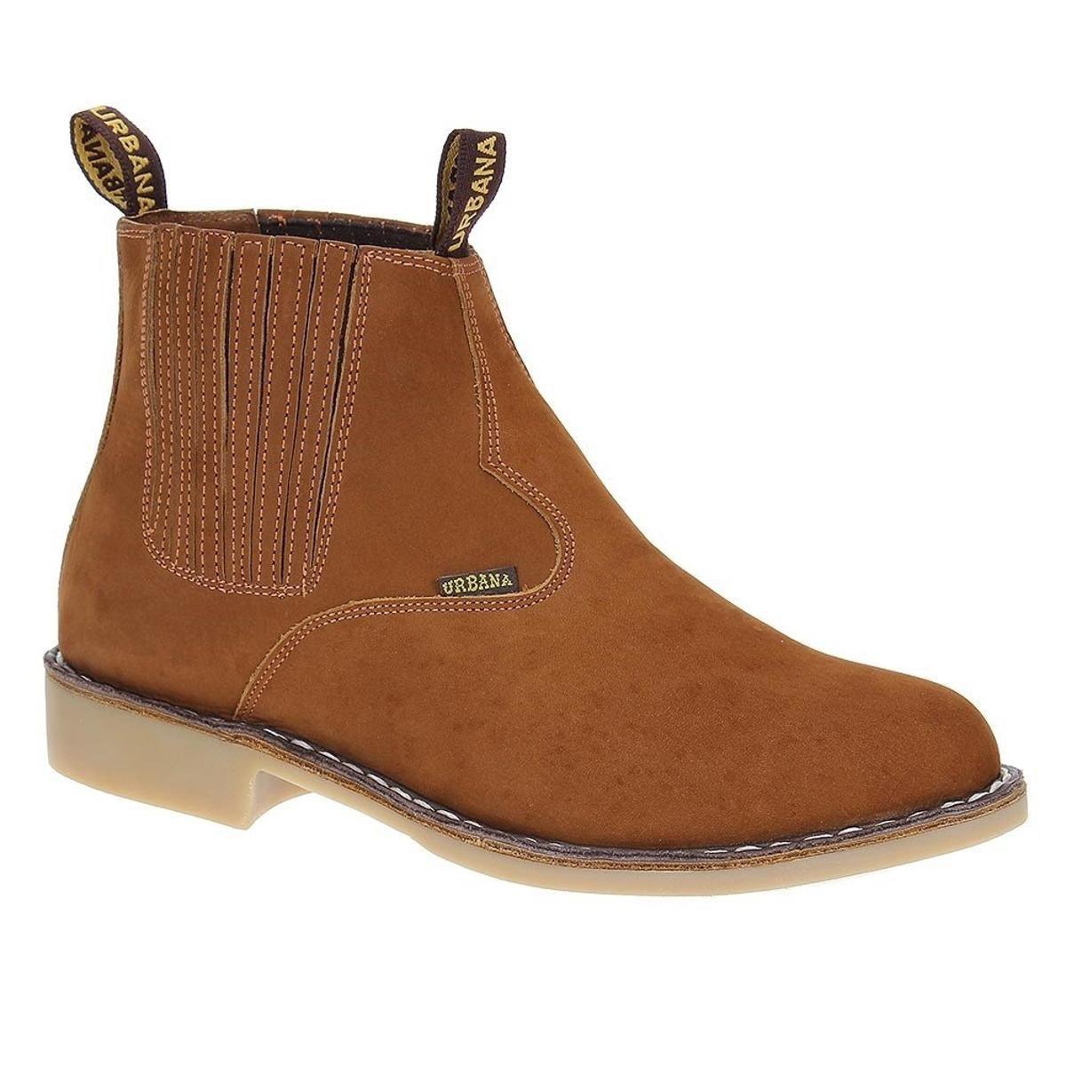60d57bbc4 Bota Couro Vira Francesa Urbana Boots Masculina - Marrom | Zattini