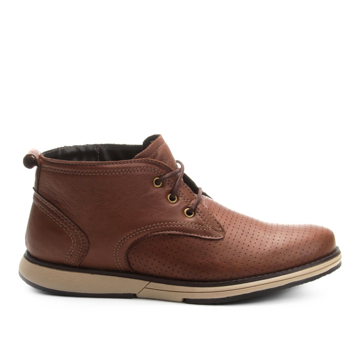 Bota Masculina Walkabout com Cano Cut Caramelo Laser Curto Couro rR4qwr