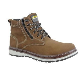 Bota Couro Zíper Lateral Bell Boots Masculino