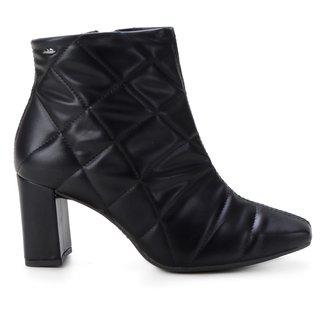 Bota Dakota Ankle Boot Matelassê Feminina
