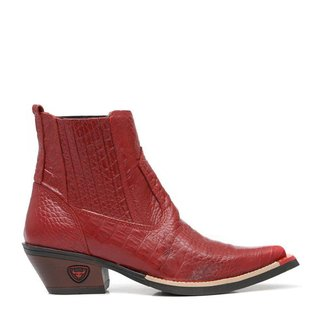 Bota Elite Country Croco Couro Masculina