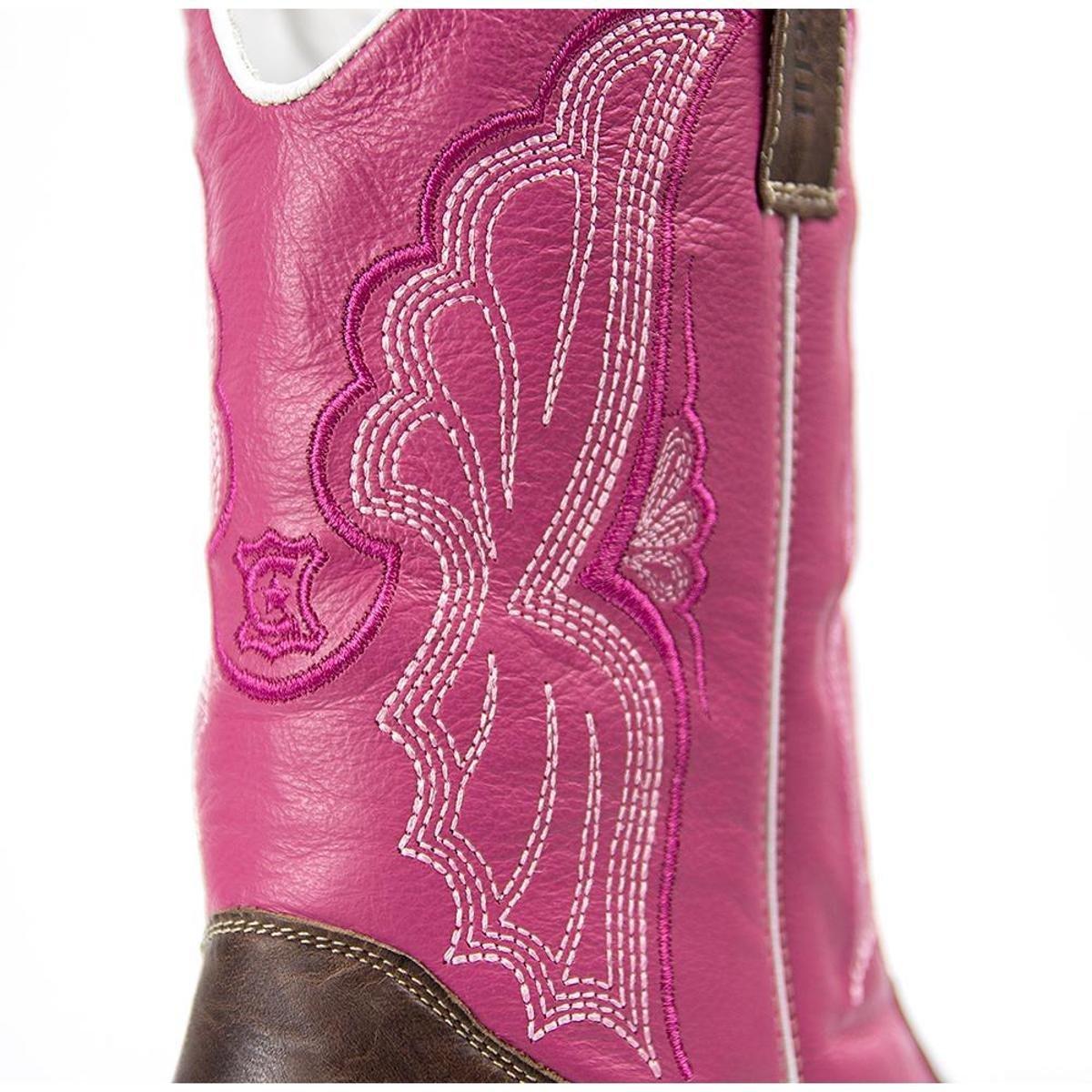 Bota Bota Capelli Rosa Country Couro em Feminina Legítimo em Texana awSW4qnwpd