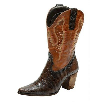 Bota Escrete Texana Anaconda-Feminino