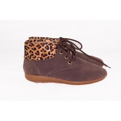 Bota Gomes Shoes Onça em Camurça Feminina