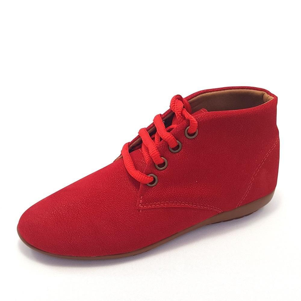 Bota Bota GomeShoes Curto Cano Cano Feminina GomeShoes Vermelho Curto Feminina Vermelho wBwTqXr