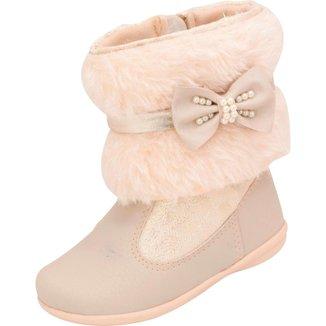 Bota Infantil Menina Plis Calçados