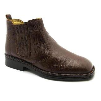 Bota masculina 1000 Comfort café vegetal em Couro Doctor Shoes