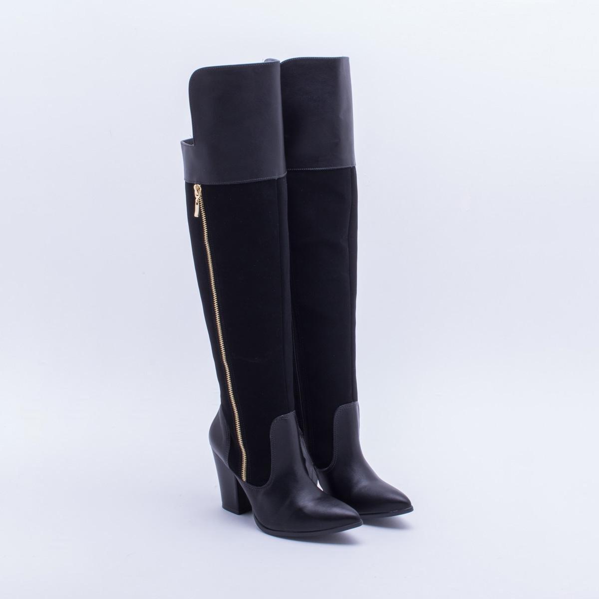 05a13a14e Bota Over Knee Via Marte Nobuck Feminina - Compre Agora