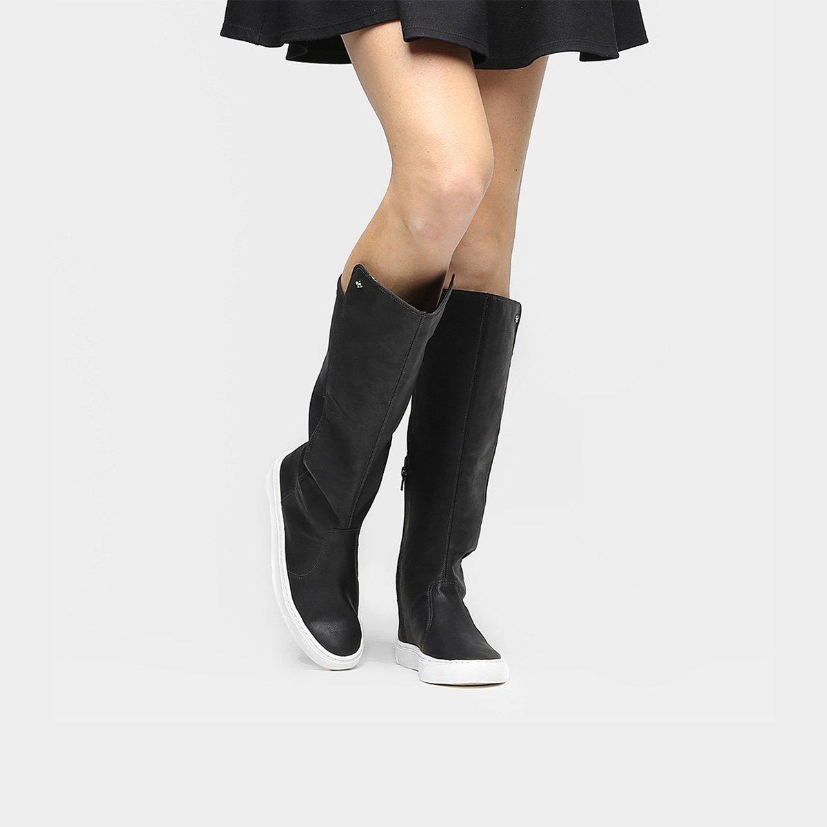 588995377 Bota Over The Knee Comfortflex Cravo & Canela Feminina | Zattini