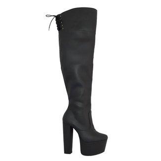 Bota Over The Knee Demmi 1310102 New Pele Tamanho Especial Feminina