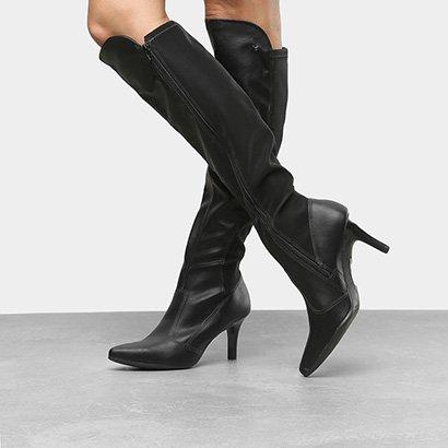 Bota Over The Knee Mississipi Bico Fino Feminina-Feminino