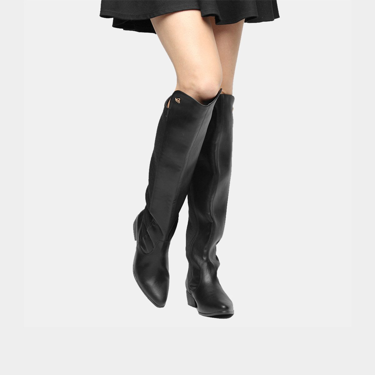 a342e2cf0 Bota Over The Knee Via Marte Bico Fino Feminina - Compre Agora