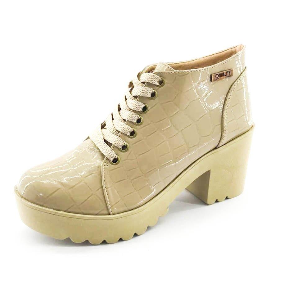 Bota Bota Shoes Verniz Quality Croco Bege Quality Feminina pw7qfwOz