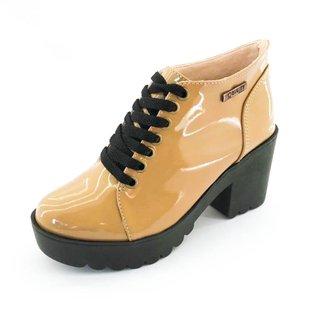 Bota Quality Shoes Tratorada Verniz Feminina