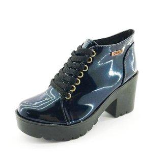 Bota Quality Shoes Verniz Glitter Feminina