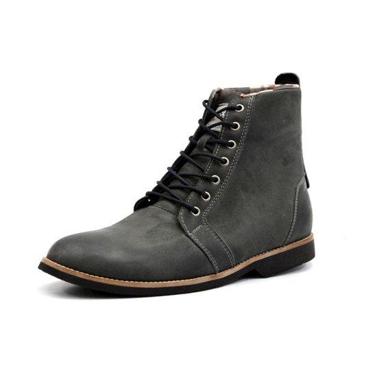 Bota Shoes Grand Cano Baixo Masculina - Cinza