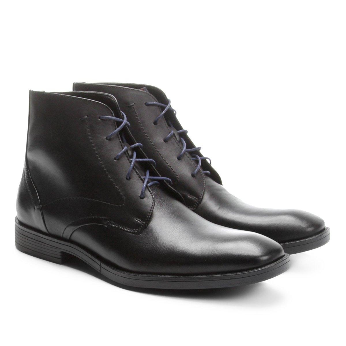 CANO Bota Shoestock Preto COURO Shoestock Bota MÉDIO qP4xPBgw